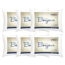 Kit Travesseiro Bonjour Ortobom - Kit com 6 Unidades 50x70 - Fibra Siliconizada - Barros Baby -