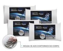 Kit Travesseiro Nasa 4 Pecas - Antialergico - Toque Macio - Master comfort