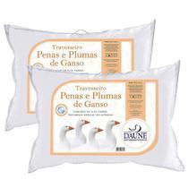 Kit Travesseiros 80%Penas e 20%Plumas 50 x 70 cm - Daune Travesseiros