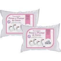 Kit Travesseiros 95% Penas e 5% Plumas de Ganso - 50 x 70 cm - Daune