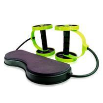 Kit Treino Funcional e Exercício Fitness Com Rodas Abdominais - Mbfit