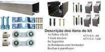 Kit Trilho e Roldanas Para Portas de Correr Alumínio Natural - Alfer