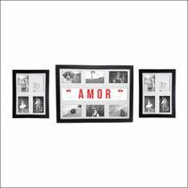 Kit Trio De Quadros Painéis Para 14 Fotos Amor  Qpl29.q3226 - Kiaga