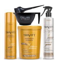Kit Trivitt Cronograma Capilar Shampoo Hidratação e Reconstrução -