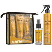 Kit Trivitt Hidratante Fluido P/ Escova e Reparador De Pontas -