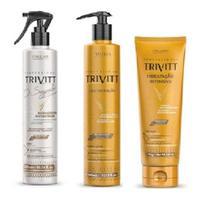 Kit Trivitt Reconstrução Segredo + Cauterização + Mascara -