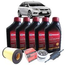 Kit troca de óleo 5w30 Ford Motorcraft para cada 10000km - Ford Novo Focus 2.0 de 2009 até 2013 -