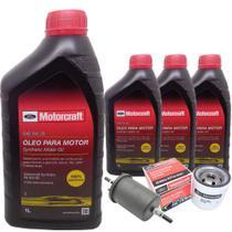 Kit troca de óleo Motorcraft 5W20 e filtros - Ford Novo Ka 1.0 12V e 1.5 16V e Novo Focus 1.6 16V -