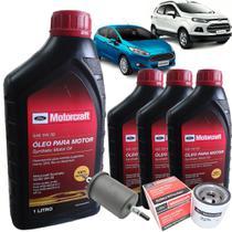 Kit troca de óleo Motorcraft 5W30 e filtros - Ford New Fiesta 1.5 e 1.6 e Nova Ecosport 1.6 Sigma -