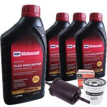 Kit troca de óleo Motorcraft 5W30 e filtros - Ford New Fiesta e Nova Ecosport 1.6 16V Sigma -