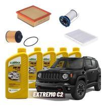 Kit Troca Óleo Jeep Kit Revisão Jeep Renegade 2.0 Diesel - UFI, Tecfil, Wega, Bosch, Mahle, Lubrax