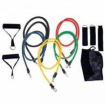 Kit Tubing Elástico 11 Itens Treinamento Funcional Pilates - RopeShop