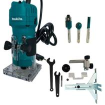 Kit Tupia 6mm 530W- 3709 -Makita + Conjunto de Fresas 3 Pçs- D-16461 - MakitaBR -