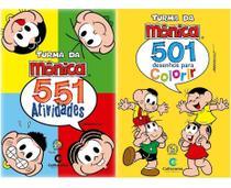 Kit Turma Da Mônica: 501 Colorir E 551 Atividades - Culturama