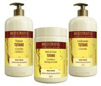 Kit Tutano e Ceramidas Shampoo + Condicionador 1 Litro + Máscara 1KG - Bio Extratus