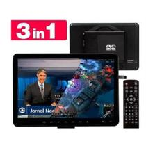 Kit tv full hd digital 3d com conversor integrado portatil 15,4 polegadas com dvd monitor mini com h - Knup