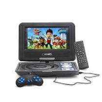 Kit tv hd portatil 7 polegadas com dvd integrado televisao digital com usb controle remoto e games p - Knup
