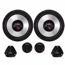 Kit Two Way 2 Vias Bomber Upgrade 6 Pol + Tweeter Mid Bass 120W -