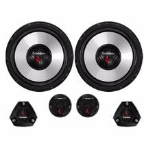 Kit Two Way 2 Vias Bomber Upgrade 6 Pol + Tweeter Mid Bass 120W