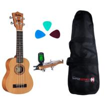 Kit Ukulele Su21m Soprano Shelby By Eagle + Afinador Harmonics Th-101 + Capa + Palhetas -