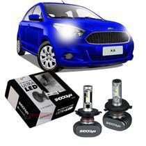 Kit Ultra LED tipo xenon Shocklight Ford Ka 2015 2016 2017 2018 2019 2020 farol alto e baixo H4 e milha H11 -