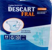 kit uma  fralda geriátrica descart fral mas uma  toalha umedecida  da higifral   com 40 unidades - descart fral    higifral.