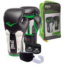 4d9013768 Kit UNISSEX PROFISSIONAL - Boxe   Muay Thai   Kickboxing - Luva 14 Oz ELITE  PRIME EVERLAST + bandagem + protetor bucal
