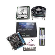 kit upgrade  dual core  memoria  4gb ddr3 placa mae  1155 h61 cooler universal - INFORSEG