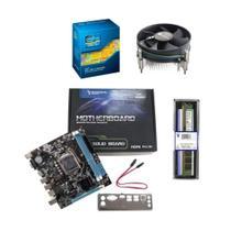 kit upgrade i5 memoria 4gb ddr3 placa mae 1155 h61 cooler universal - INFORSEG