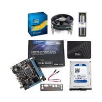 kit upgrade i5 memoria 8gb ddr3 placa mae 1155 h61 cooler universal hd 500gb ssd 120gb - INFORSEG