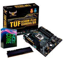 Kit Upgrade Intel Core i5 9400F + TUF B360M-PLUS GAMING/BR + Memória 8GB DDR4 - Oficina Dos Bits