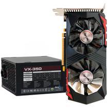 Kit Upgrade Nvidia GeForce GTX 750 Ti 2GB GDDR5 128bits + Fonte 350W AeroCool VX-350 - 59763 - Oficina Dos Bits