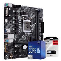 Kit Upgrade Placa Mãe Asus H410M-E, Processador Intel Core i5 10400 4.30Ghz Décima Geração, SSD Kingston 480GB - Skill Gaming