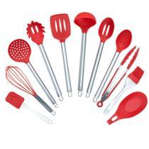 Kit utencilios de cozinha 11 peças acabamento em silicone - cód: (lb-2006) - LIBA