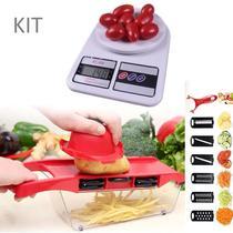 Kit Utensílios Cozinha Balança Digital Precisão Cortador Legumes Fatiador 6 em 1 - Penselarfun