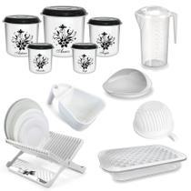Kit Utensilios Cozinha (potes, Travessa, Escorredores, Jarra, Cortador de Legumes)  Injetemp -