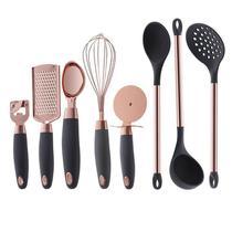 Kit utensílios de cozinha 8 peças rose cinza - Paramount