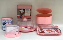 Kit - utensílios plásticos - rosé - Plas Tutti