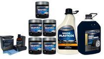 Kit V-paint 5 Rejuvex Pneu Pretinho Renova Plasticos Vonixx -