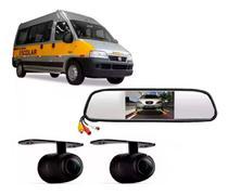 Kit Van Escolar 2 Câmeras Frontal/traseira + Retrovisor Tela - Diversas