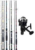 Kit Vara De Pesca Praia 3,00 Metros Spin + Molinete Feriado 4000 3 Rolamentos - Plusfish