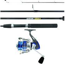 Kit Vara Kará 1,65m 15-25lbs 2 Partes + Molinete Canário 30 - Albatroz Fishing