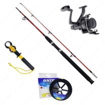Kit Vara Lumis Expert 1,65m + Molinete IX4000 + Linha Soft 0,40mm + Alicate - Kit de pesca