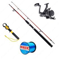 Kit Vara Lumis Expert 1,80m + Molinete IX4000 + Linha Invisible 0,40mm + Alicate - Kit de pesca