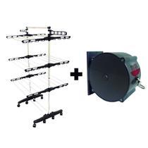 KIT Varal De Chão Vertical Com Rodinhas 3 Andares + Varal Trevisan Cinza (OC) - Signal
