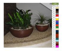 Kit Vaso Planta Bacia 80x30 + 60x30 Polietileno - Bgplasticos