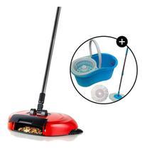 Kit vassoura mágica c/ balde mop spin 123útil -