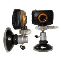 Kit veicular - Câmera filmadora de ação HD c/ acessórios e Tripé com ventosa - Vivitar