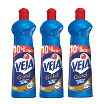 Kit Veja Gold Multiuso Original 500ml 3 Unidades -