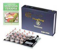 Kit Ventosa Com 17 Copos Dong Yang com Livro Ventosaterapia -